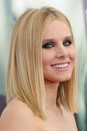 Kristen Bell went for edgy-chic styling with this sleek straight cut during the 'Veronica Mars' screening.