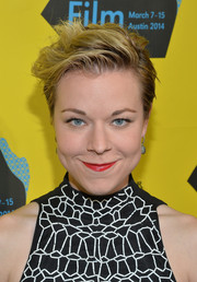 Tina Majorino wore her hair in a messy short style at the SXSW premiere of 'Veronica Mars.'