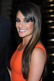 Lea Michele loves to wear her shiny dark locks in a sleek and straight style.