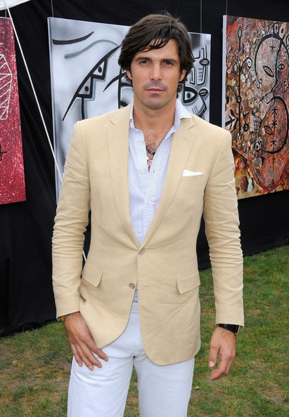Nacho Figueras topped off his dapper ensemble with a beige blazer at the Veuve Clicquot Polo Classic.