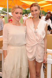 Reality starlet Whitney Port accessorized delicate romper with a Pin-Up disco ball necklace at the 2011 Veuve Clicquot Polo Classic at Governor's Island.