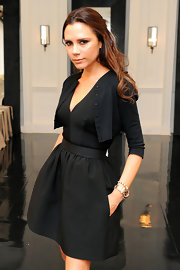 Designer Victoria Beckham wore an 18 karat gold Spike bracelet to her Spring 2011 Presentation at New York Fashion Week.