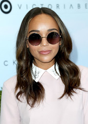 Ashley Madekwe accessorized with a pair of round shades for that extra-cool factor.