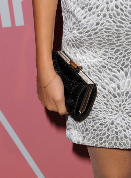 Victoria Justice Beaded Clutch [joint,fashion,arm,leg,shoulder,human leg,dress,waist,footwear,ankle,young hollywood - arrivals,victoria justice,saluting,hollywood,west hollywood,california,nobu los angeles,golden globes party,party]
