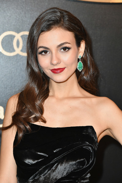 Victoria Justice Dangling Gemstone Earrings