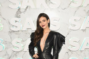 Victoria Justice Leather Dress