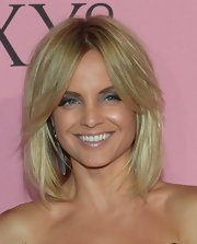 Mena Suvari wore her chic bob silky smooth with her lengthy bangs swept off to the sides for the Victoria's Secret What Is Sexy? party.