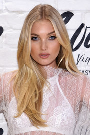 Elsa Hosk was flawlessly coiffed with this center-parted, feathery 'do at the launch of the Easy Collection from Body by Victoria.