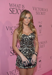 Alexa Vega accessorized with a matte black onyx pave diamond nugget wrap stretch bracelet for the Victoria's Secret What Is Sexy? party.