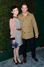 "Josh Dallas wore this tan pea coat to the premiere of Paul McCartney's ""My Valentine"" music video."