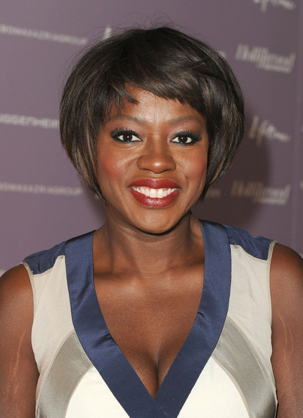 Viola Davis Graduated Bob [power 100: women in entertainment breakfast,red carpet,hair,face,hairstyle,beauty,bob cut,lip,bangs,black hair,muscle,smile,viola davis,the beverly hills hotel,beverly hills,california,hollywood reporter]