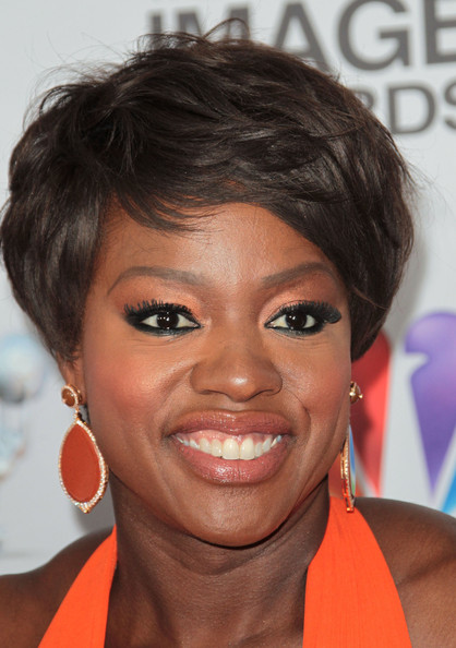 Viola Davis Messy Cut [hair,face,hairstyle,eyebrow,chin,forehead,lip,black hair,eyelash,pixie cut,arrivals,viola davis,the shrine auditorium,los angeles,california,naacp image awards]