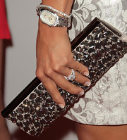 Eva la Rue broke out the diamonds at the Rock the Kasbah gala, wearing this watch, tennis bracelet, and ring combo.