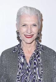 Maye Musk worked a slicked-back hairstyle at the Visionary Women event.
