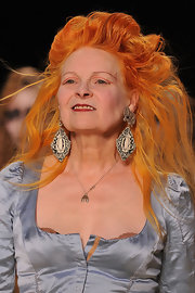 Vivienne Westwood sported an over-the-top teased 'do at her Fall 2012 fashion show.