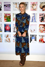 Laura Bailey pulled a Kate Bosworth in this bold print dress at the Vogue Festival cocktail party.