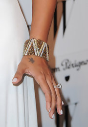 La La Anthony's gorgeous cuff bracelet provided a dazzling finish to her ensemble at the W Magazine Golden Globes party.