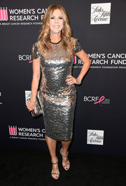 Rita Wilson looked radiant in a silver sequin sheath dress during WCRF's An Unforgettable Evening.