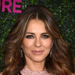Elizabeth Hurley's Feathered Flip