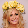 Pixie Lott's Ethereal Waves & Foral Hairpiece