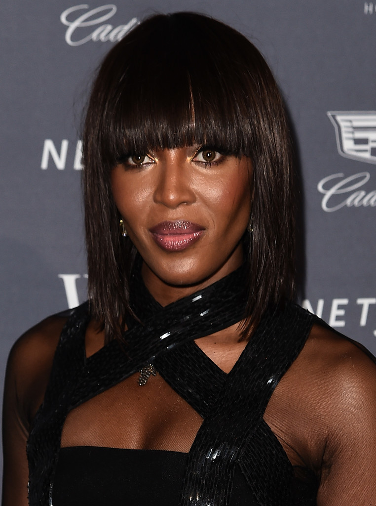Naomi Campbell S Blunt Bangs The Very Best Medium Length