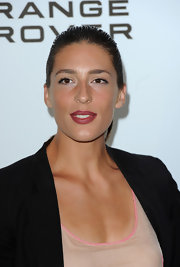 Andrea Petkovic wore an iridescent berry lipstick at the Pre-Wimbledon party