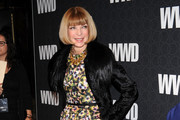 Anna Wintour Wears a Fur Collared Coat