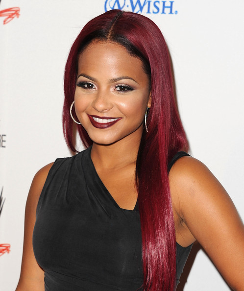 More Pics of Christina Milian Dark Lipstick (1 of 7) - Dark Lipstick Lookbook - StyleBistro