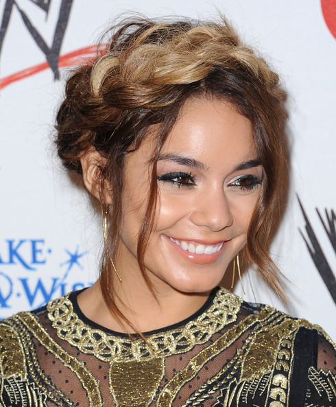 More Pics of Vanessa Hudgens Braided Updo (2 of 34) - Braided Updo Lookbook - StyleBistro