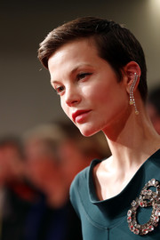 Sylvia Hoeks looked cool with her short, side-parted 'do at the Venice Film Festival screening of 'Waiting for the Barbarians.'