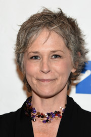 Melissa McBride opted for a messy cut when she attended the 'Walking Dead' screening and conversation.