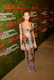 Nicole Richie looked subtly sexy in a sheer floral gown by Dolce & Gabbana during the Wallis Annenberg Center Inaugural Gala.