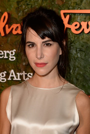 Caroline Sieber opted for a casual, mussed-up ponytail when she attended the Wallis Annenberg Center Inaugural Gala.