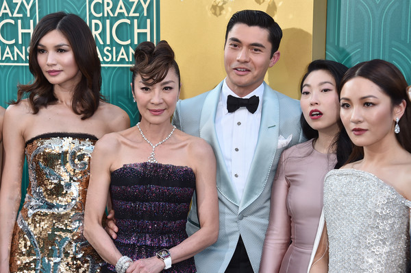 More Pics of Gemma Chan Metallic Purse (1 of 8) - Evening Bags Lookbook - StyleBistro [crazy rich asians,crazy rich asiaans,dress,skin,lady,event,formal wear,beauty,fashion,hairstyle,gown,premiere,premiere - arrivals,california,hollywood,warner bros. pictures,tcl chinese theatre imax,premiere]