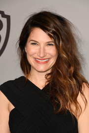 Kathryn Hahn was edgy-glam with her teased waves at the Warner Bros. and InStyle Golden Globes after-party.