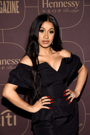 Cardi B's pointy red nails looked dangerously sexy!