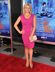 Megan Hilty wore a hot pink fitted sheath dress at 'The Way, Way Back' premiere in NYC.