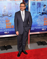 Steve Carell rocked a two-button pinstriped suit at the premiere of 'The Way, Way Back.'