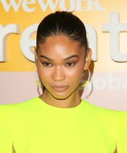 Chanel Iman sported a tight ponytail at the WeWork Creator Awards Global Finals.