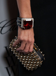 Rachel Zoe's massive gemstone bracelet at the Who What Wear event was a real attention grabber.