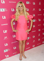 Bridget donned gleaming silver heels with a cotton candy pink dress. A matching pink pedicure completes the reality star's look.