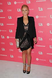 Hayden looked hot in a sleek blazer for US Weekly's Hot Hollywood party. It was the perfect add-on to her lacy dress and ankle-strap heels.