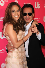 J-Lo rocked a glimmering diamond bangle bracelet to the US Weekly Hot Party.