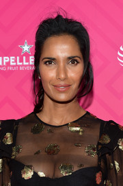 Padma Lakshmi pulled her hair back into a messy ponytail for Us Weekly's Most Stylish New Yorkers 2016.