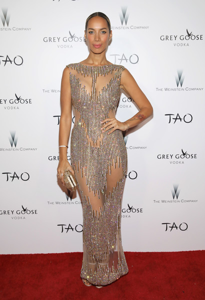 Leona Lewis (carrying an Atelier Swarovski clutch)