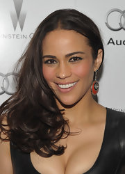 Paula Patton wore her silky tresses in a side-swept style at the Weinstein Company and Audi celebration of awards season.