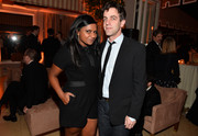 Mindy Kaling stayed casual in a black romper at the Weinstein Company SAG after-party.