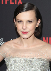 Millie Bobby Brown sported a neat bob at the Weinstein Company Golden Globes party.