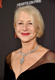 Helen Mirren attended the Weinstein Company and Netflix Golden Globe party wearing her usual bob.