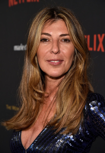 Nina Garcia kept it casual with this loose, center-parted hairstyle at the Weinstein Company and Netflix Golden Globe party.